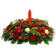 Table Christmas composition - flowers and bouquets on roza.kharkov.ua
