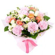Нежный букет гвоздик - цветы и букеты на roza.kharkov.ua