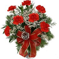 New Year's bouquet of carnations - flowers and bouquets on roza.kharkov.ua