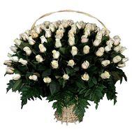 Огромная корзина роз - цветы и букеты на roza.kharkov.ua
