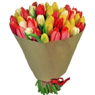 Bright bouquet of tulips - flowers and bouquets on roza.kharkov.ua