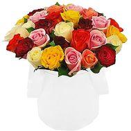 Яркая коробка роз - цветы и букеты на roza.kharkov.ua