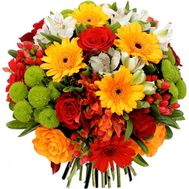 Mega bright bouquet of flowers - flowers and bouquets on roza.kharkov.ua