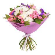 Букет из кустовых роз и хризантем - цветы и букеты на roza.kharkov.ua