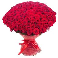 Buy 101 roses - flowers and bouquets on roza.kharkov.ua