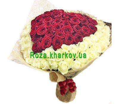 """""""101 роза в виде сердца"""" в интернет-магазине цветов roza.kharkov.ua"""