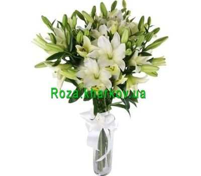 """""""21 white lily"""" in the online flower shop roza.kharkov.ua"""