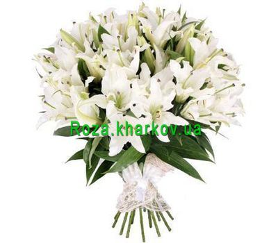 """Large bouquet of lilies"" in the online flower shop roza.kharkov.ua"