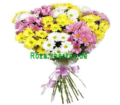 """""""Bouquet of chrysanthemums"""" in the online flower shop roza.kharkov.ua"""