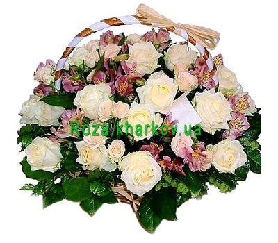 """Basket of flowers for the Wedding"" in the online flower shop roza.kharkov.ua"
