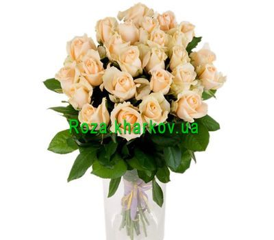 """Peach roses in a bouquet"" in the online flower shop roza.kharkov.ua"