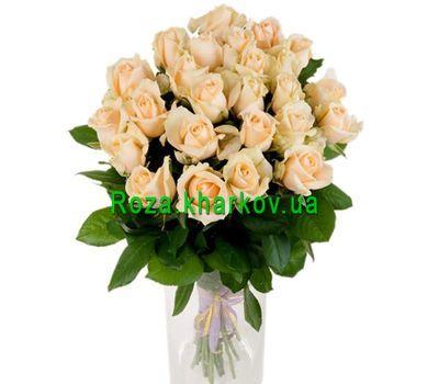 """""""Персиковые розы в букете"""" в интернет-магазине цветов roza.kharkov.ua"""