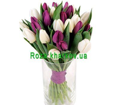 """Design bouquet of tulips"" in the online flower shop roza.kharkov.ua"