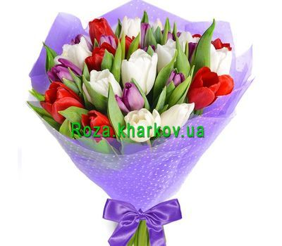 """""""A magnificent bouquet of tulips"""" in the online flower shop roza.kharkov.ua"""