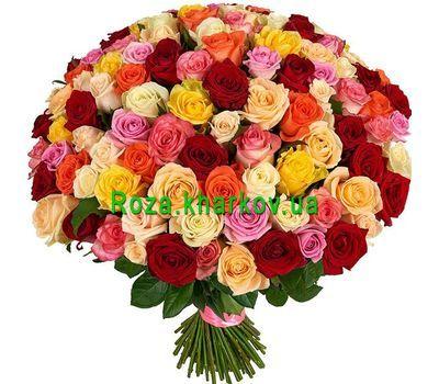 """""""151 разноцветная роза"""" в интернет-магазине цветов roza.kharkov.ua"""