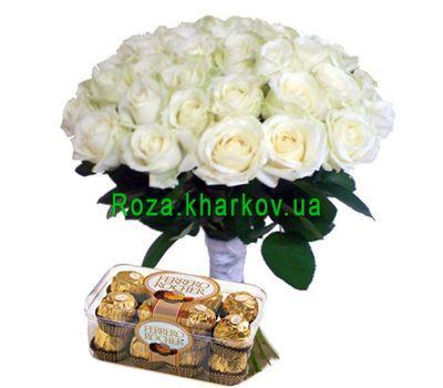 """35 роз и ферреро"" в интернет-магазине цветов roza.kharkov.ua"