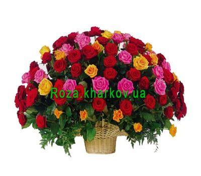 """""""Large basket of roses"""" in the online flower shop roza.kharkov.ua"""