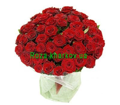 """Large bouquet of roses"" in the online flower shop roza.kharkov.ua"
