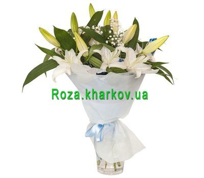 """""""Bouquet of white lilies"""" in the online flower shop roza.kharkov.ua"""