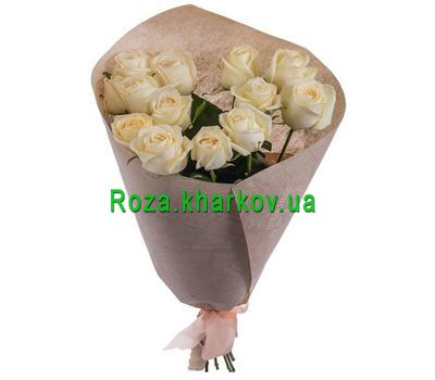 """""""Bouquet of white roses"""" in the online flower shop roza.kharkov.ua"""