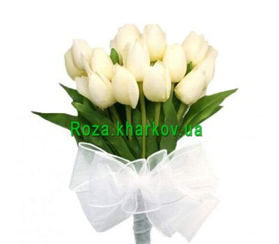 """Bouquet of white tulips"" in the online flower shop roza.kharkov.ua"