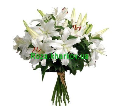 """Bouquet of lilies"" in the online flower shop roza.kharkov.ua"