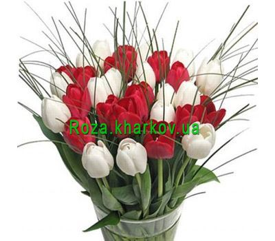 """Bouquet of flowers from tulips"" in the online flower shop roza.kharkov.ua"