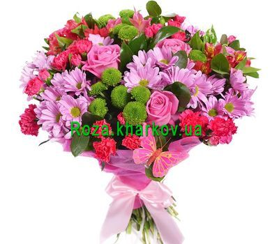 """Bouquet of flowers mix"" in the online flower shop roza.kharkov.ua"