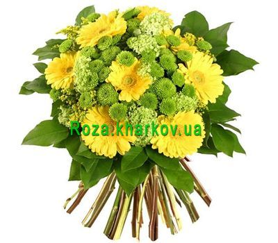 """Bouquet of gerberas and chrysanthemums"" in the online flower shop roza.kharkov.ua"