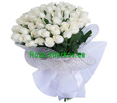 """Bouquet of 41 white roses"" in the online flower shop roza.kharkov.ua"