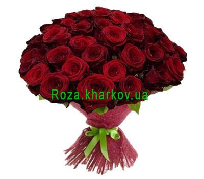 """""""Bouquet of 55 red roses"""" in the online flower shop roza.kharkov.ua"""
