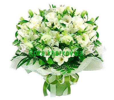 """Bouquet of alstroemerias and roses"" in the online flower shop roza.kharkov.ua"