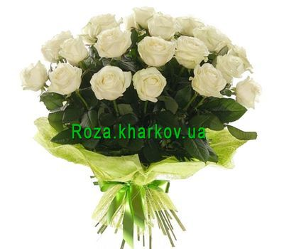 """Bouquet of white roses"" in the online flower shop roza.kharkov.ua"