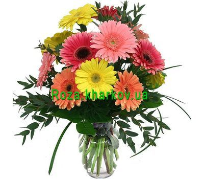 """Bouquet of gerberas"" in the online flower shop roza.kharkov.ua"