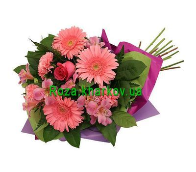"""Bouquet of gerberas and alstroemerias"" in the online flower shop roza.kharkov.ua"