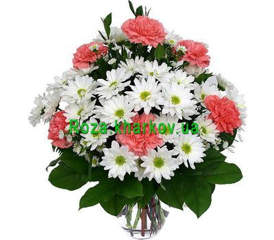 """Bouquet of carnations and chrysanthemums"" in the online flower shop roza.kharkov.ua"