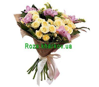 """""""Букет из орхидей и кустовых роз"""" в интернет-магазине цветов roza.kharkov.ua"""