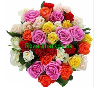 """Bouquet of different color roses"" in the online flower shop roza.kharkov.ua"