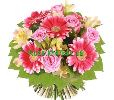 """Bouquet of roses and gerberas"" in the online flower shop roza.kharkov.ua"