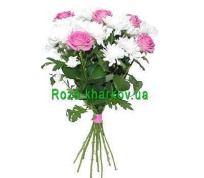 """""""Букет из роз и хризантем"""" в интернет-магазине цветов roza.kharkov.ua"""