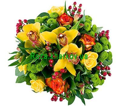 """Bouquet of roses and orchids"" in the online flower shop roza.kharkov.ua"
