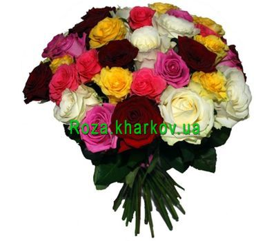 """""""Bouquet of mixed colored roses"""" in the online flower shop roza.kharkov.ua"""
