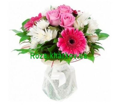 """""""Bouquet of roses and gerberas"""" in the online flower shop roza.kharkov.ua"""