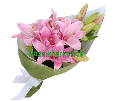 """""""Букет розовых лилий"""" в интернет-магазине цветов roza.kharkov.ua"""