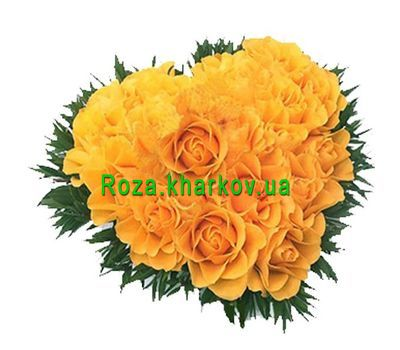 """Heart-shaped bouquet"" in the online flower shop roza.kharkov.ua"