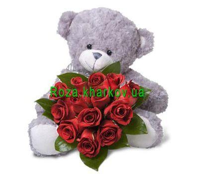 """""""Букет в форме сердца"""" в интернет-магазине цветов roza.kharkov.ua"""