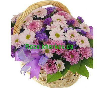 """""""Цветочная корзина из хризантем"""" в интернет-магазине цветов roza.kharkov.ua"""