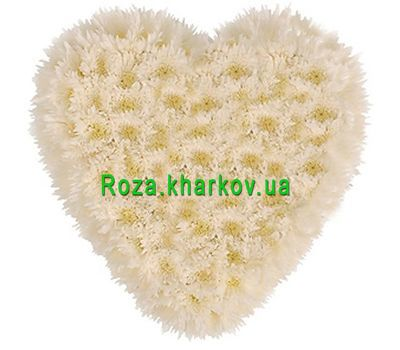 """Flower heart"" in the online flower shop roza.kharkov.ua"
