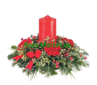 """Composition for the New Year"" in the online flower shop roza.kharkov.ua"