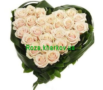 """Composition in the form of heart"" in the online flower shop roza.kharkov.ua"